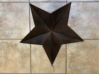"24"" Bronze Metal Star"