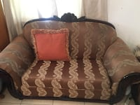 brown and black floral fabric loveseat Palm Beach Gardens, 33410