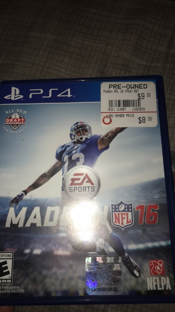 Used PS4 Madden NFL 16 game case for sale in Moxee  letgo