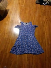 women's blue and white sleeveless dress Gaithersburg, 20878