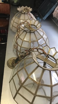Solid brass and glass pool table lights Chicago, 60638