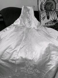 A Brilliant white 9 foot Train Wedding Dress by Ja Calgary, T2E 5W6