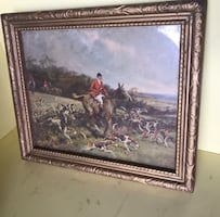 Small antique horse photo in antique frame