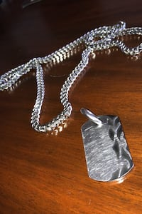 Stainless steel chain with diamond in the back of the dog tag Wauwatosa, 53213