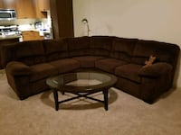L shaped brown sofa (Brand : Ashley) Alexandria, 22302