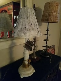 "White Lamp w/ wicker shade 25"" tall Farmers Branch, 75234"