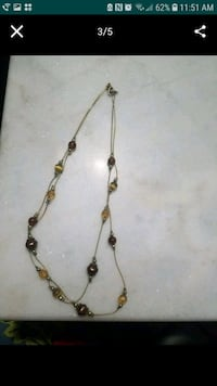 Gold necklace with brown and yellow beads La Puente, 91744