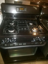 black 4-burner gas range Temple Hills, 20748