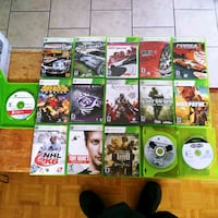 17 xbox 360 games, two Controllers and headset for sale Toronto, M6K 2T8