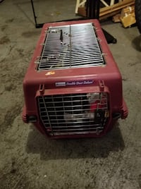red and black pet carrier Chicago, 60642