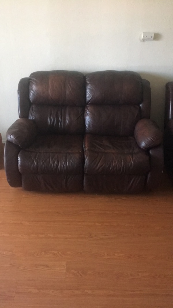 Used Brown Leather Recliner Sofa Chair For Sale In Concord Letgo