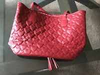 women's red and brown leather sling bag Montréal, H4L 3C2