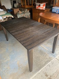 """Dark Wooden Dining Table w/ 18"""" Leaf Fishers, 46037"""