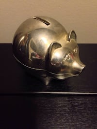 Vintage collectable silver piggy bank Mississauga, L5J 4B7