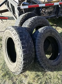 two black auto wheel with tires