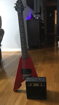 red and black electric guitar Fairfax, 22032