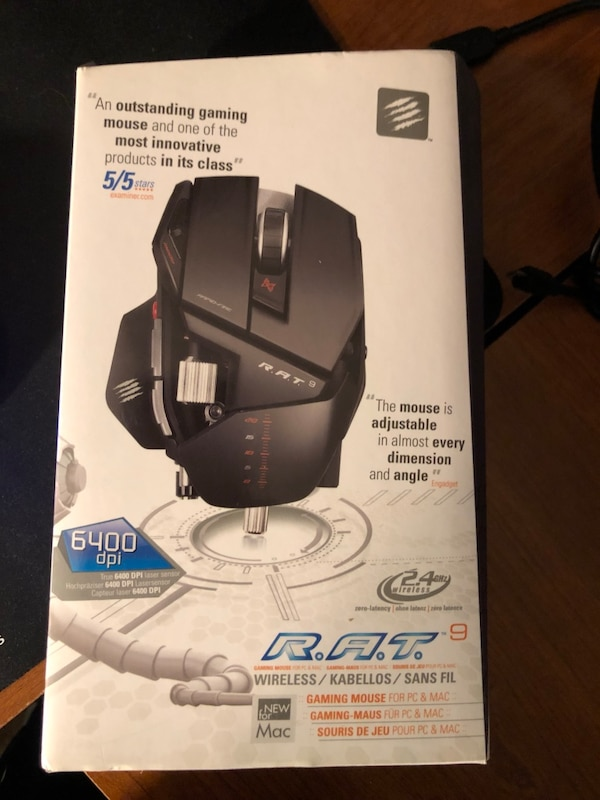Used Rat 9 gaming mouse for sale in Middletown - letgo