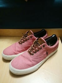 pair of pink Polo by Ralph Laurent low-top sneakers