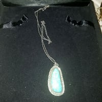 Sterling silver and turquoise necklace Brighton, 80602