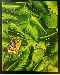 The Monarch. Acrylic on canvas. 12 x 18 inches Toronto, M5R 2X6