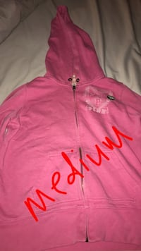pink and white zip-up hoodie Monroe, 48161