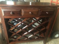 Wine rack, 36 inches wide, 37 1/2 high, solid wood. York, 29745