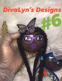 Diva Afrocentric Christmas Balls Decoration Ornaments