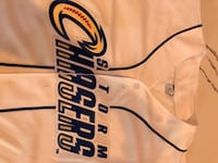Omaha Storm Chasers Jersey. Stitches lettering.  Adult Medium.  Omaha, 68022