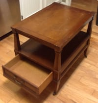 Vintage Brandt Side Table with Shelf, Drawer, and Wheels Rock Hill, 29732