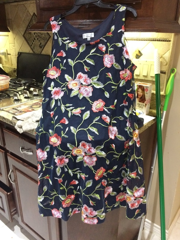 b66b6f5b9 Used New Black, pink, and green floral sleeveless dress for sale in Plano -  letgo