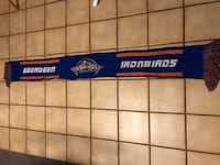 "Aberdeen Ironbirds 60"" Knit Scarf, Blue-MD Balto Orioles Minor League Baltimore, 21236"