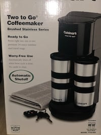Black and gray cuisinart coffeemaker - brand new in box  Kensington, 20895