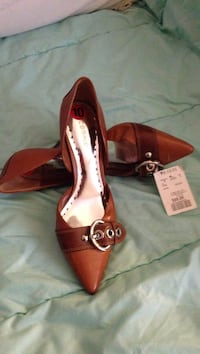 Brown leather d'orsay pointed toe flats Toronto, M6H 2K3
