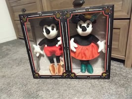 Mickey and Minnie collectible dolls