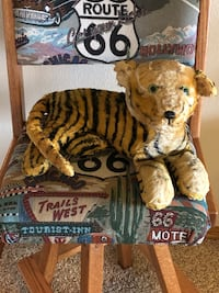 Antique 1950s Stuffed Animal Tiger