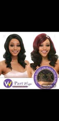 burgundy and black lace front heat resistant wig
