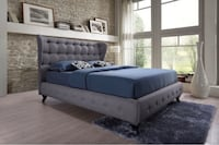 Gorgeous queen size button-tufted upholstered bed frame w/ headboard Beaverton, 97229