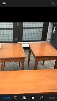 Two wooden side tables  Toronto, M6N 4P8
