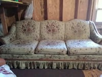 white and brown floral padded 3-seat couch Alpena, 49707