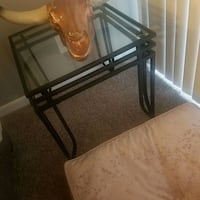 Glass End Table Silver Spring