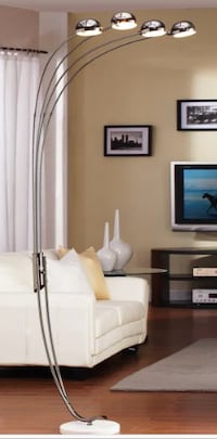 Modern Chrome Metal Arch Lamp New York