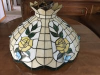 Stained glass Dining Room Tiffany Lamp and 4 matching door panels.