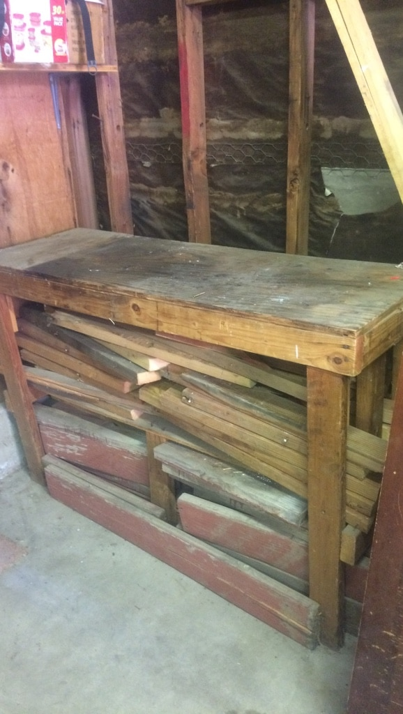 Wooden work table with all of wood