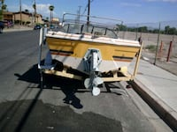 white and black utility trailer, today only$600 Las Vegas, 89121