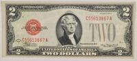 1928-D $2 U.S. NOTE ~ RED SEAL ~ VERY FINE Cliffside Park