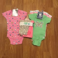 New 0-3m baby shirts and pants
