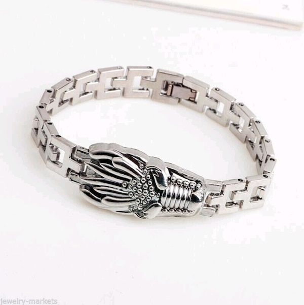 Men Punk Silver Stainless Steel Dragon Link Bracelet New 9b2f1e7e-a32f-4b9c-af6c-2f183b89bab8