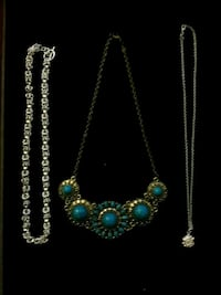 3 necklaces Sterling 1 chain
