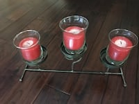 three red and gray candle holders Barrie, L4N