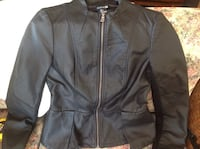 Ladies size S black pleather jacket/ nearly new Severn, L0K